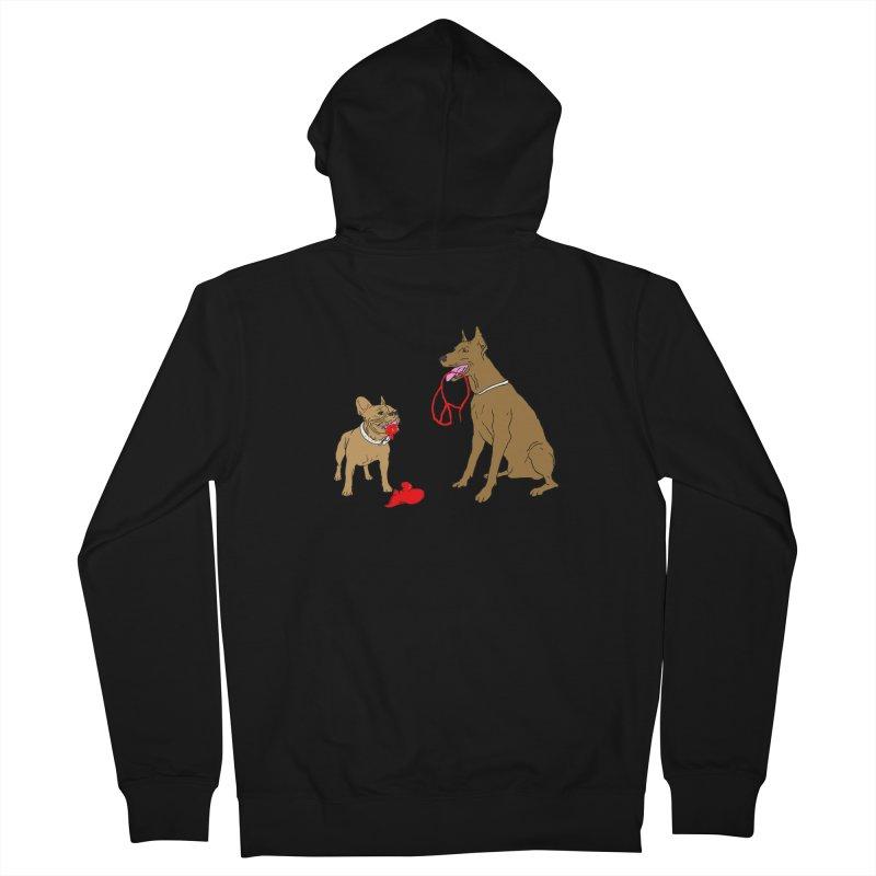 peace & love & dogs Women's Zip-Up Hoody by mikbulp's Artist Shop