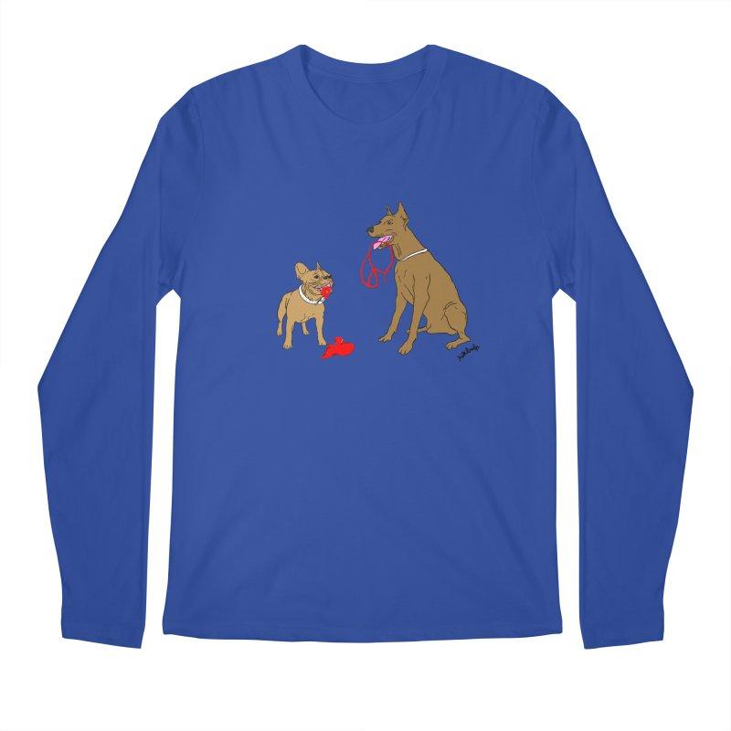 peace & love & dogs Men's Regular Longsleeve T-Shirt by mikbulp's Artist Shop