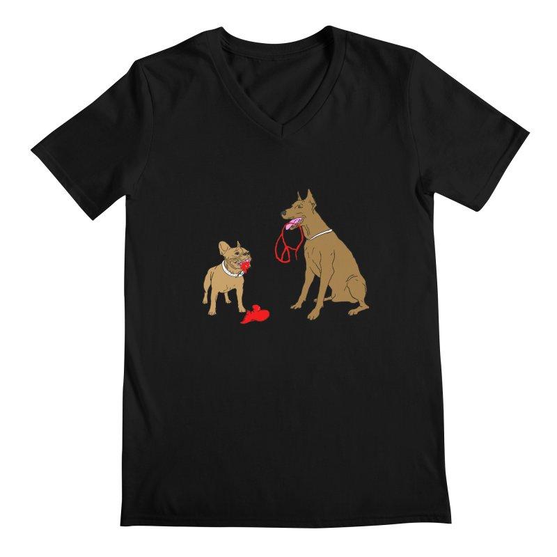 peace & love & dogs Men's V-Neck by mikbulp's Artist Shop