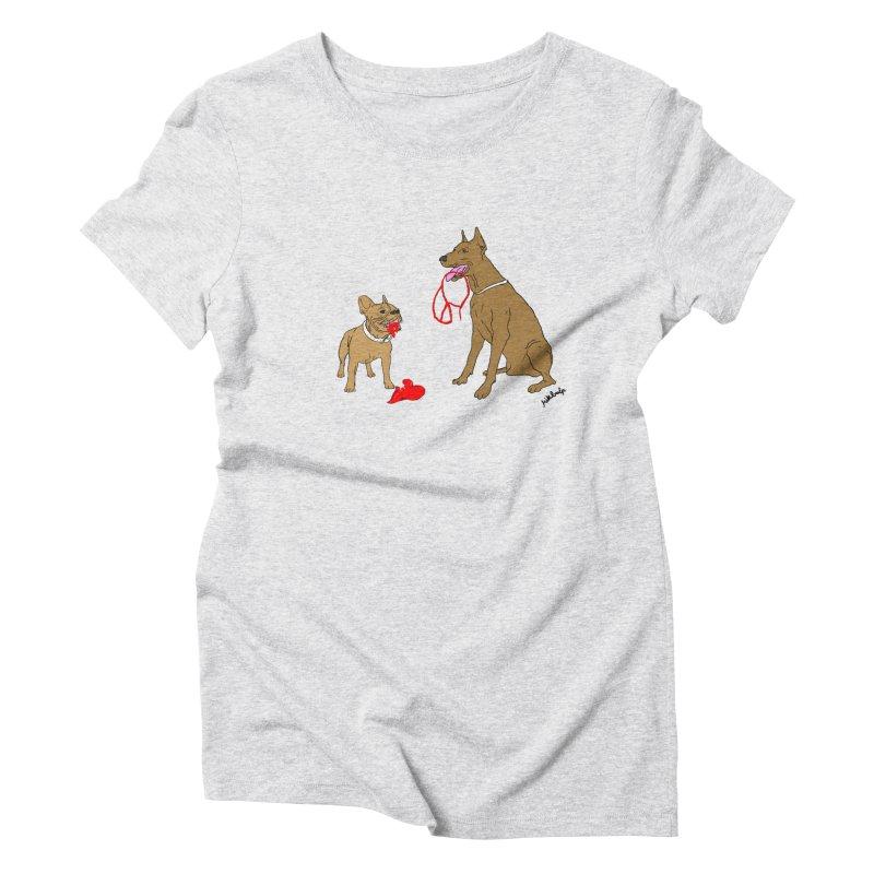 peace & love & dogs Women's Triblend T-Shirt by mikbulp's Artist Shop