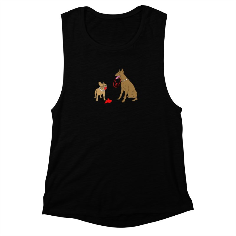 peace & love & dogs Women's Muscle Tank by mikbulp's Artist Shop