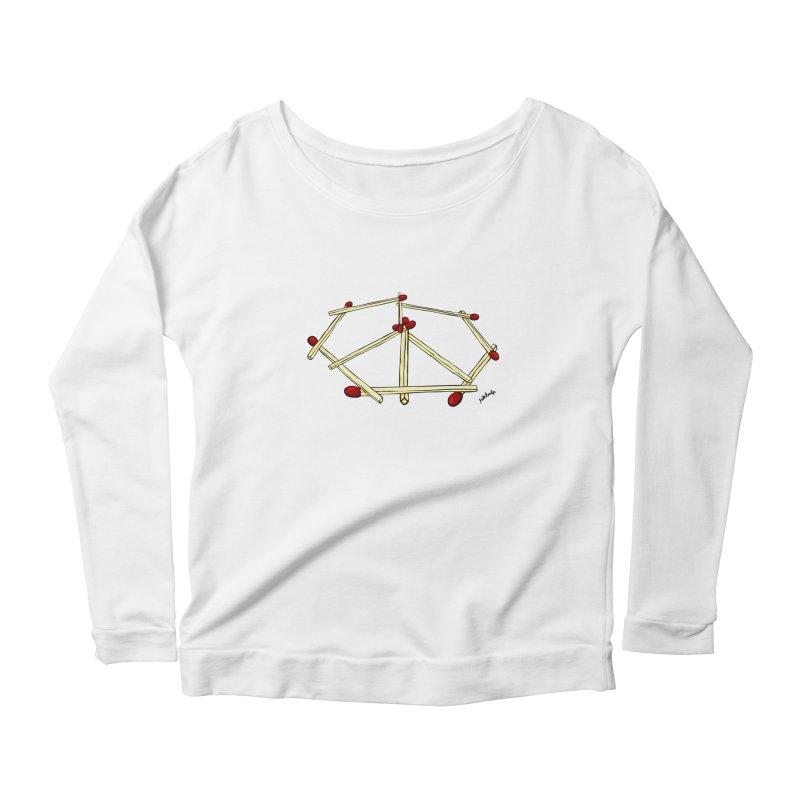 Peace matches Women's Scoop Neck Longsleeve T-Shirt by mikbulp's Artist Shop