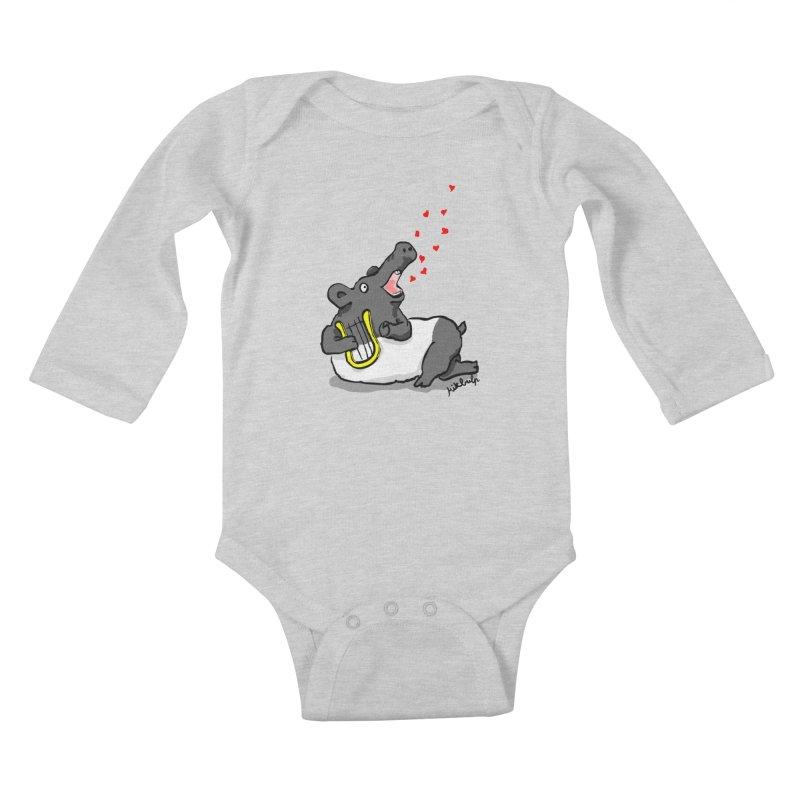 Tapir d'amour Kids Baby Longsleeve Bodysuit by mikbulp's Artist Shop