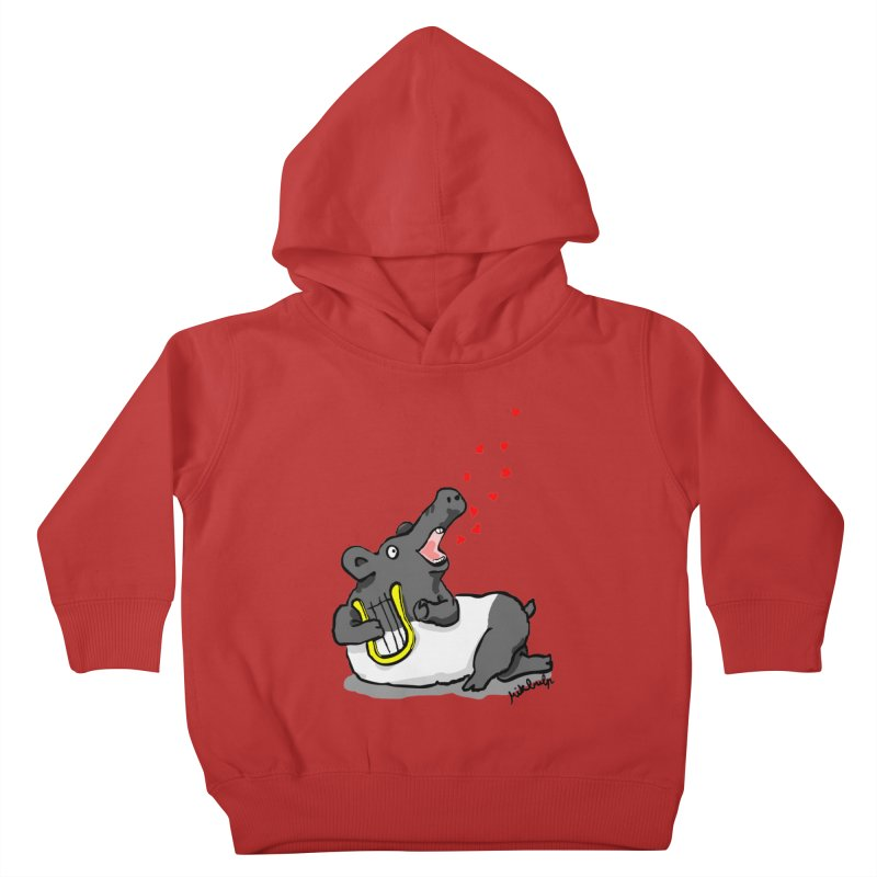 Tapir d'amour Kids Toddler Pullover Hoody by mikbulp's Artist Shop