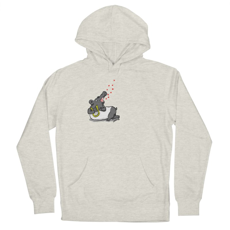 Tapir d'amour Men's French Terry Pullover Hoody by mikbulp's Artist Shop
