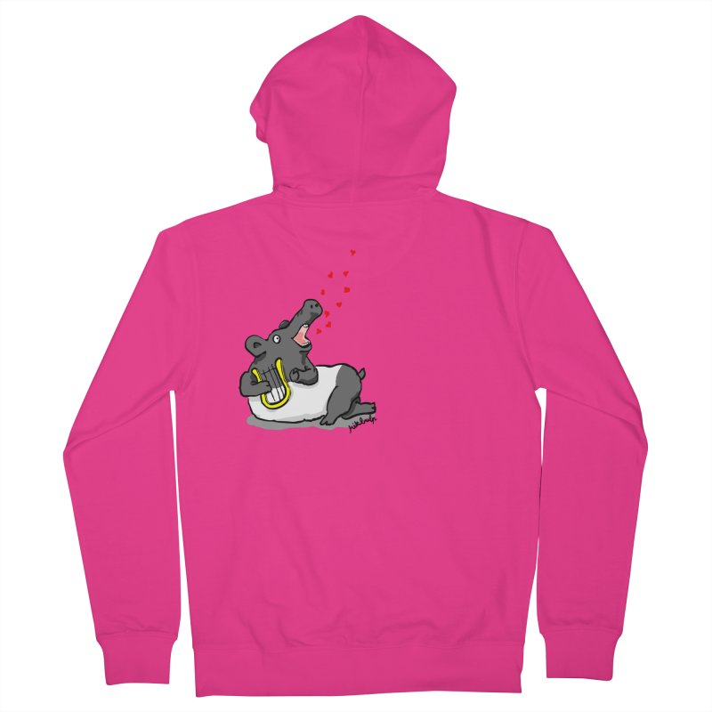Tapir d'amour Men's French Terry Zip-Up Hoody by mikbulp's Artist Shop
