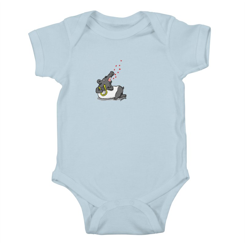 Tapir d'amour Kids Baby Bodysuit by mikbulp's Artist Shop