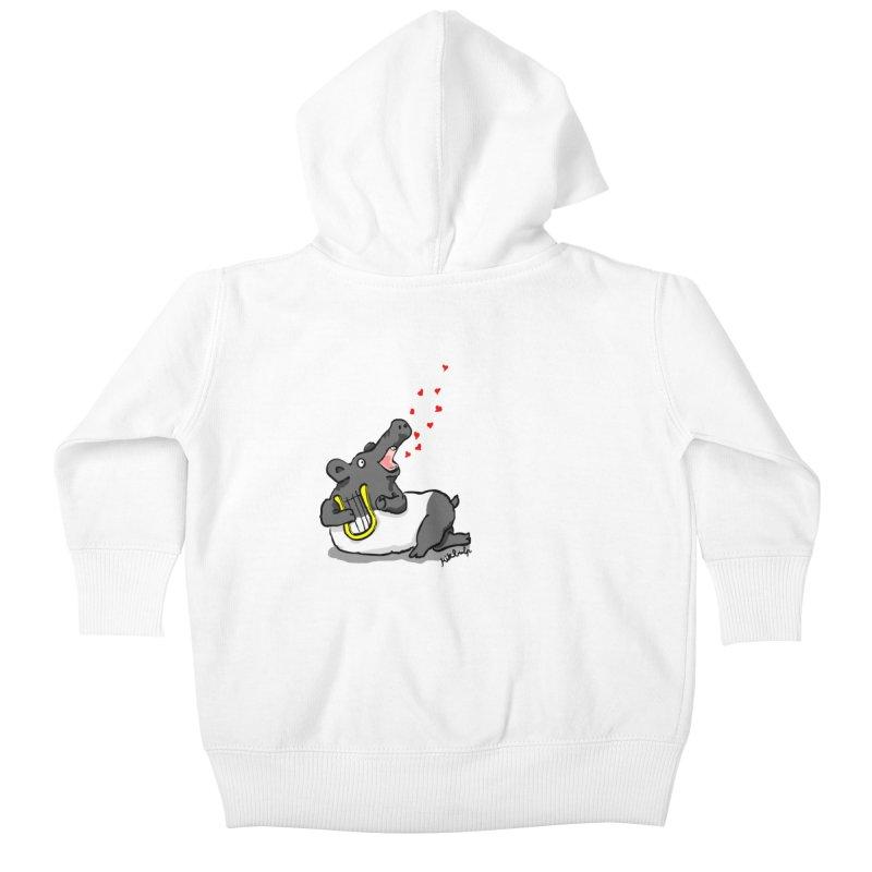 Tapir d'amour Kids Baby Zip-Up Hoody by mikbulp's Artist Shop