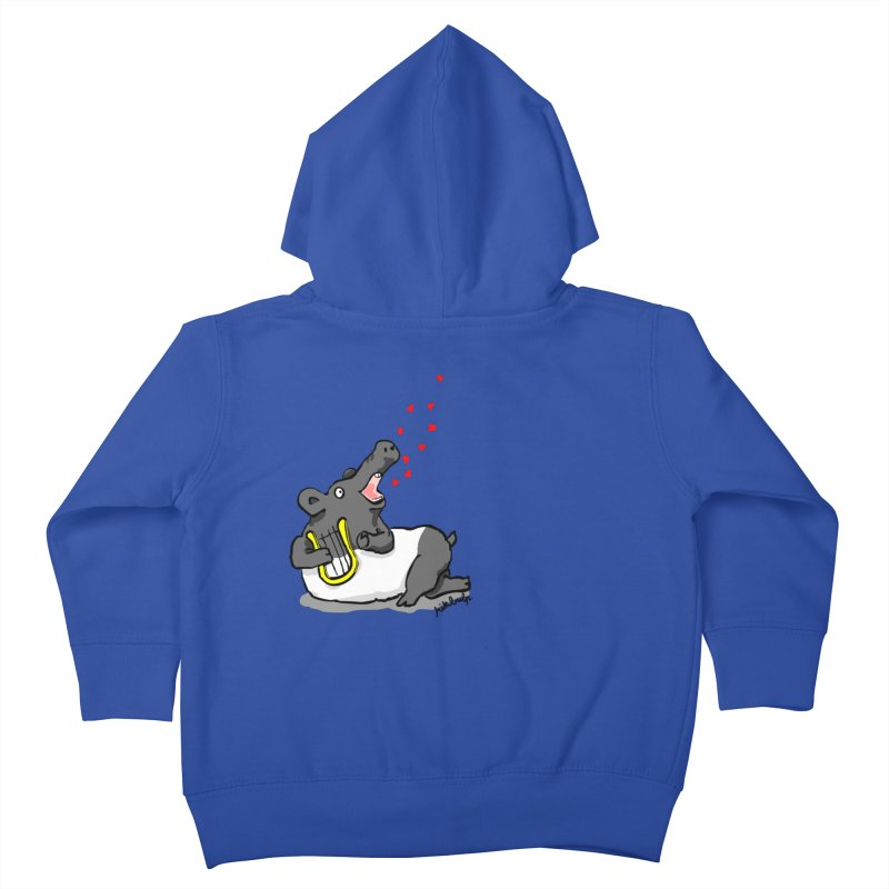 Tapir d'amour Kids Toddler Zip-Up Hoody by mikbulp's Artist Shop