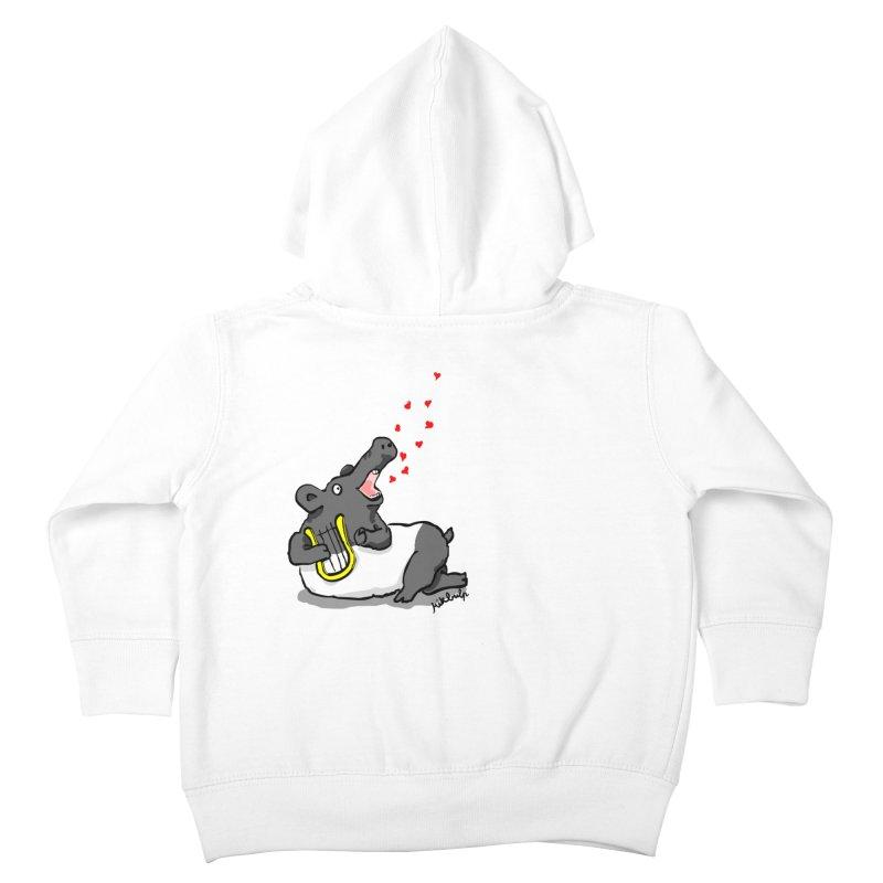 Tapir d'amour Kids Toddler Zip-Up Hoody by mikbulp's Artist Shop