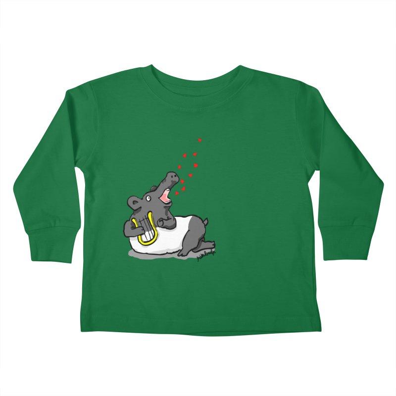 Tapir d'amour Kids Toddler Longsleeve T-Shirt by mikbulp's Artist Shop