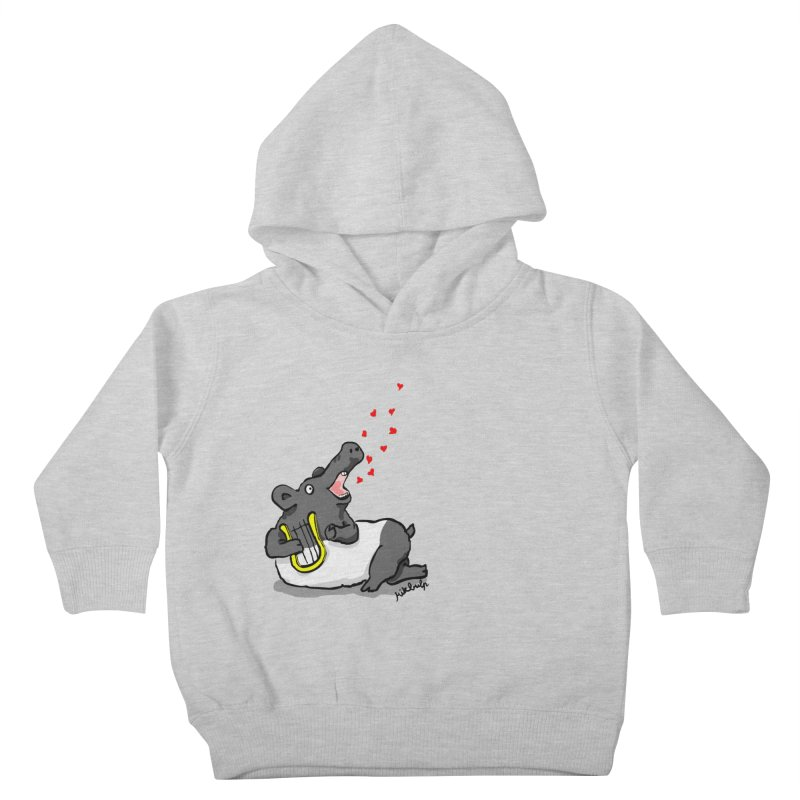 Tapir d'amour Kids Toddler Pullover Hoody by mikbulp's Artist Shop