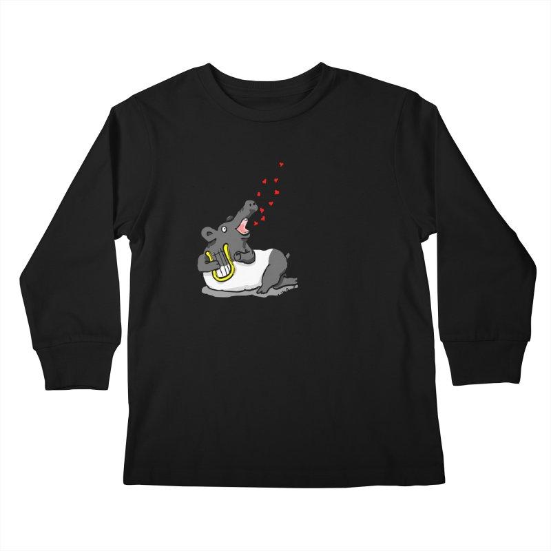 Tapir d'amour Kids Longsleeve T-Shirt by mikbulp's Artist Shop