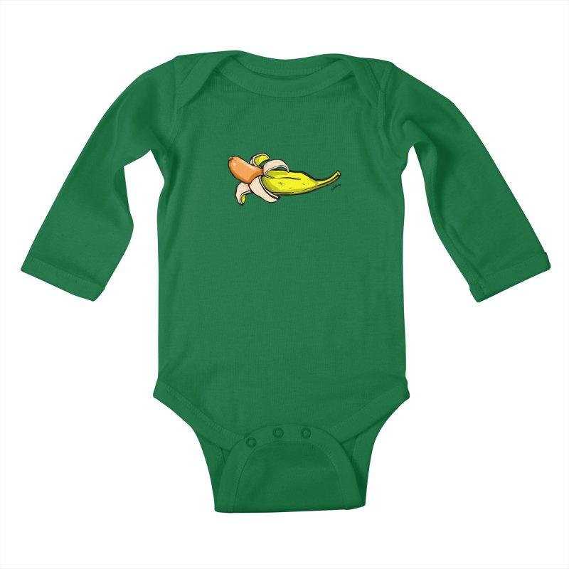 vegan fake Kids Baby Longsleeve Bodysuit by mikbulp's Artist Shop