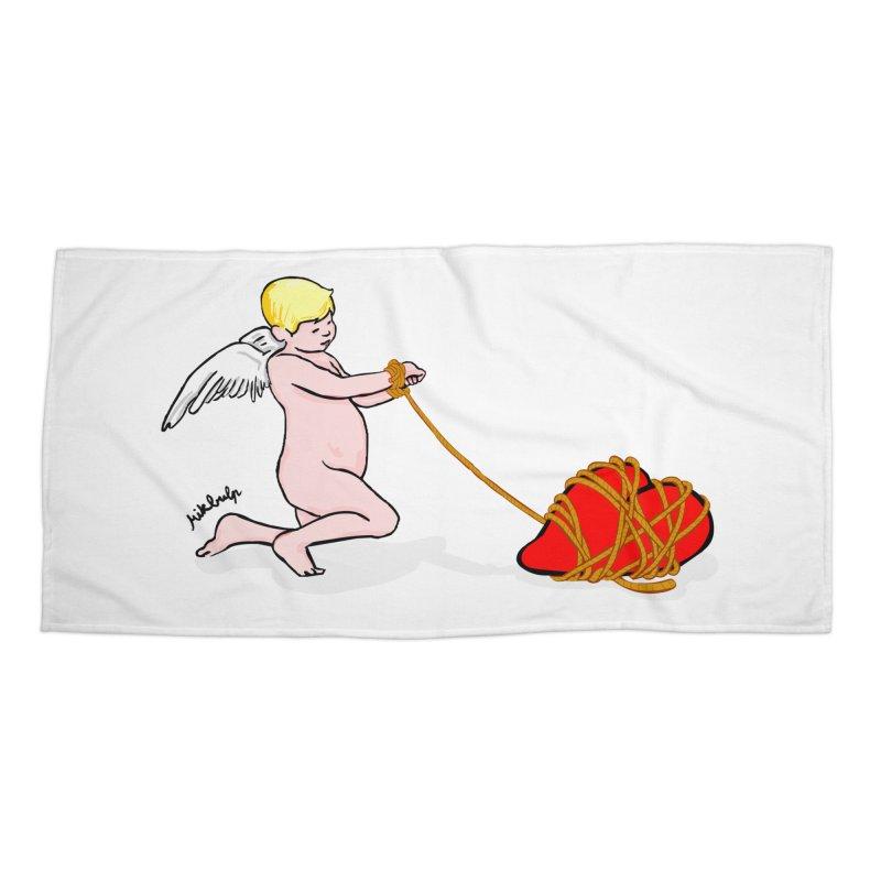 Angelheart Accessories Beach Towel by mikbulp's Artist Shop