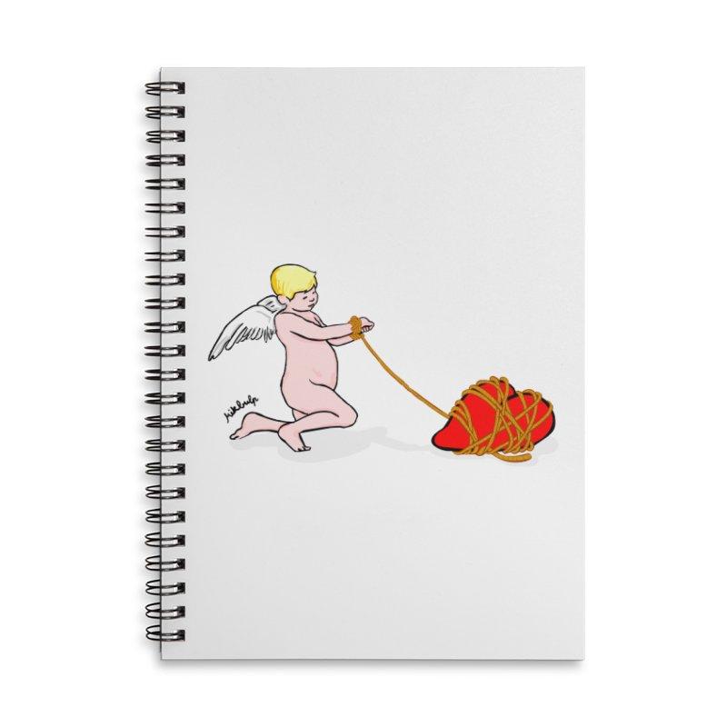 Angelheart Accessories Lined Spiral Notebook by mikbulp's Artist Shop