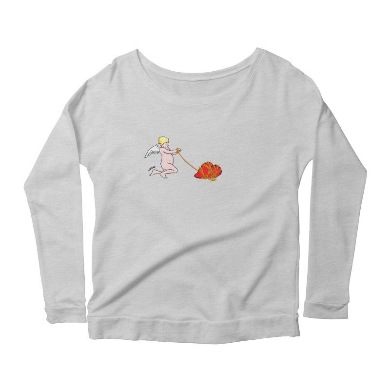 Angelheart Women's Longsleeve Scoopneck  by mikbulp's Artist Shop