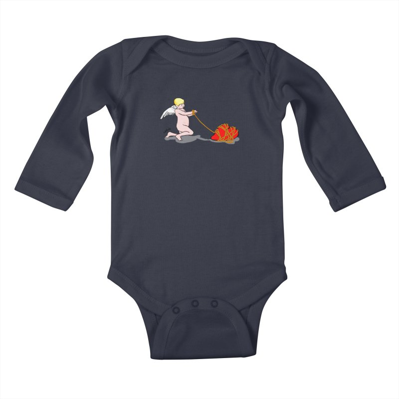Angelheart Kids Baby Longsleeve Bodysuit by mikbulp's Artist Shop