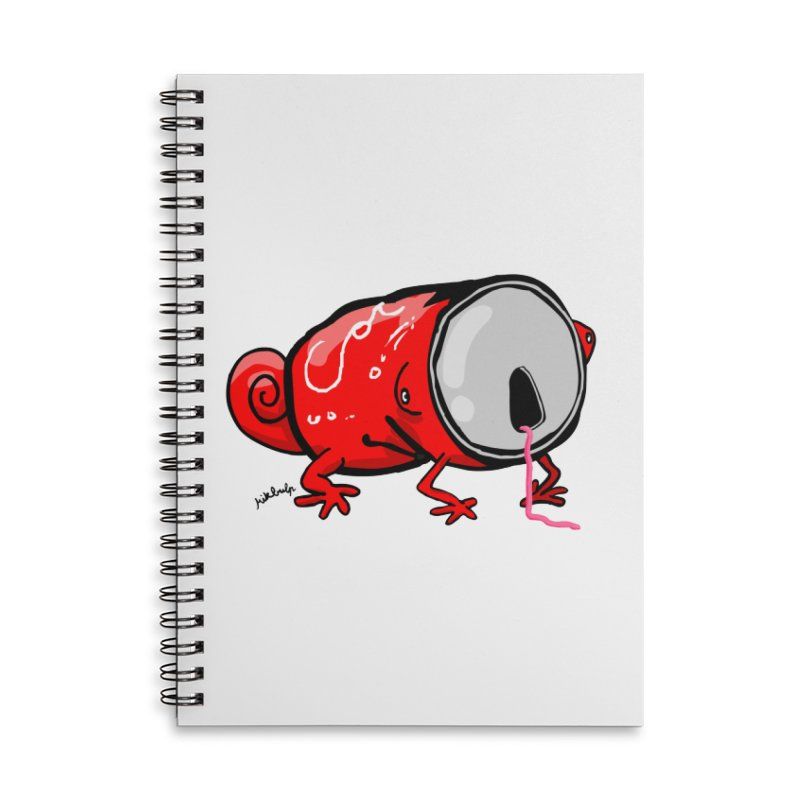 canaeleon Accessories Lined Spiral Notebook by mikbulp's Artist Shop