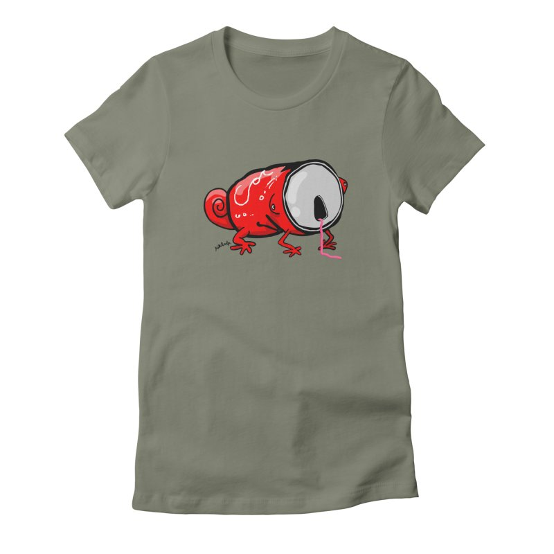 canaeleon Women's Fitted T-Shirt by mikbulp's Artist Shop