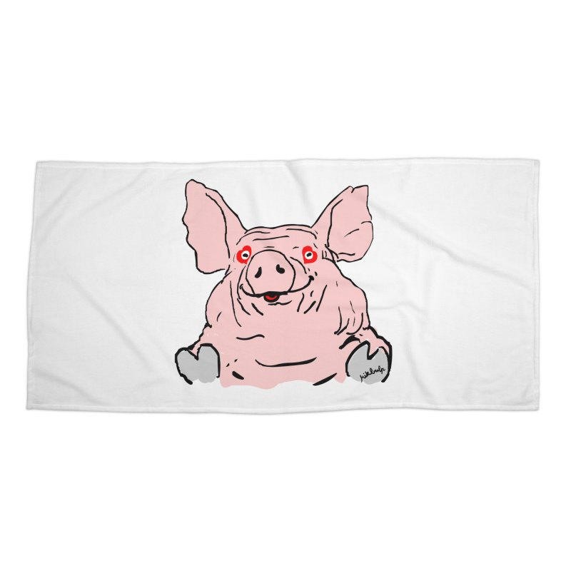 Lovepig Accessories Beach Towel by mikbulp's Artist Shop