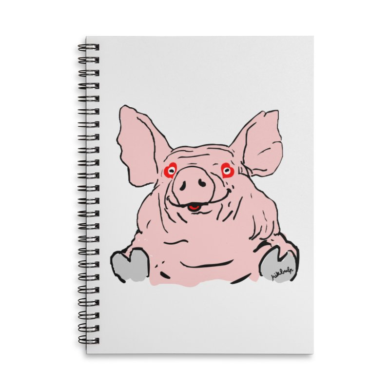 Lovepig Accessories Lined Spiral Notebook by mikbulp's Artist Shop