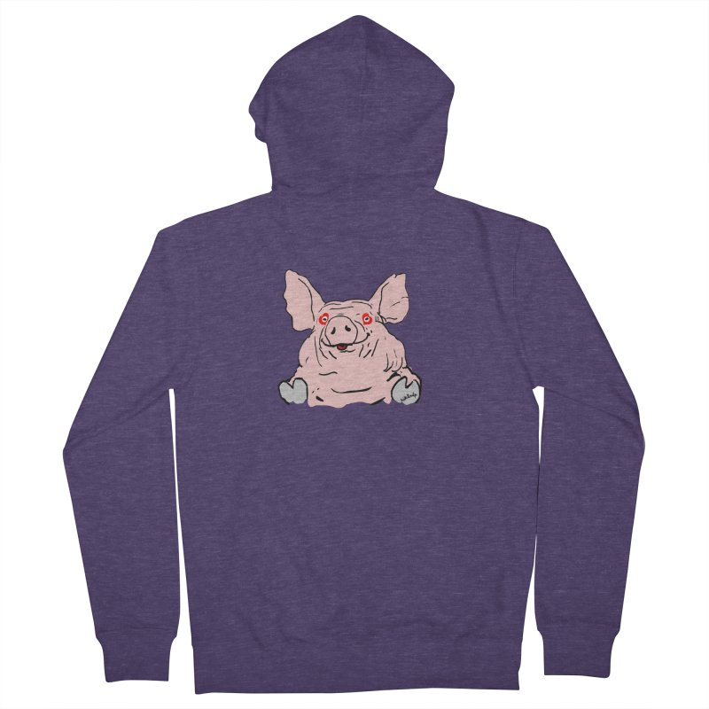 Lovepig Men's French Terry Zip-Up Hoody by mikbulp's Artist Shop