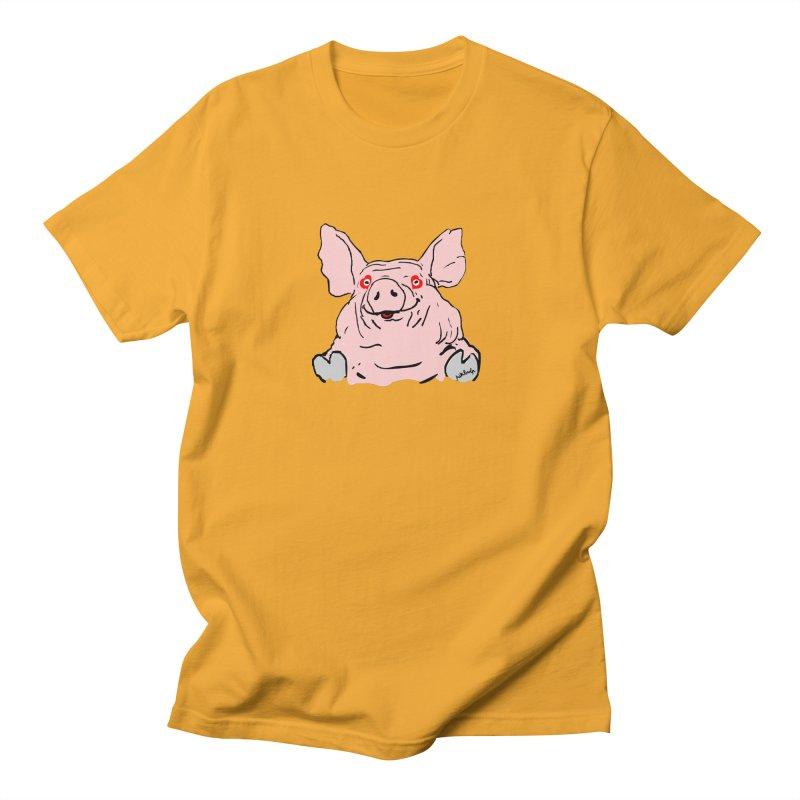 Lovepig Women's Regular Unisex T-Shirt by mikbulp's Artist Shop
