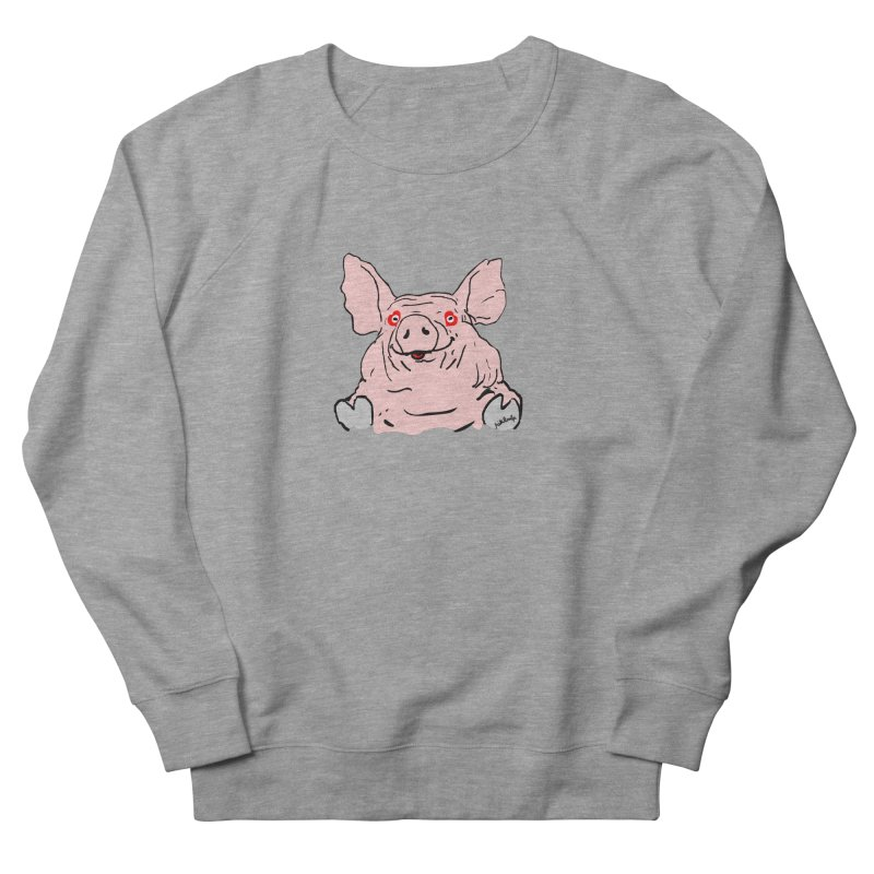 Lovepig Women's French Terry Sweatshirt by mikbulp's Artist Shop