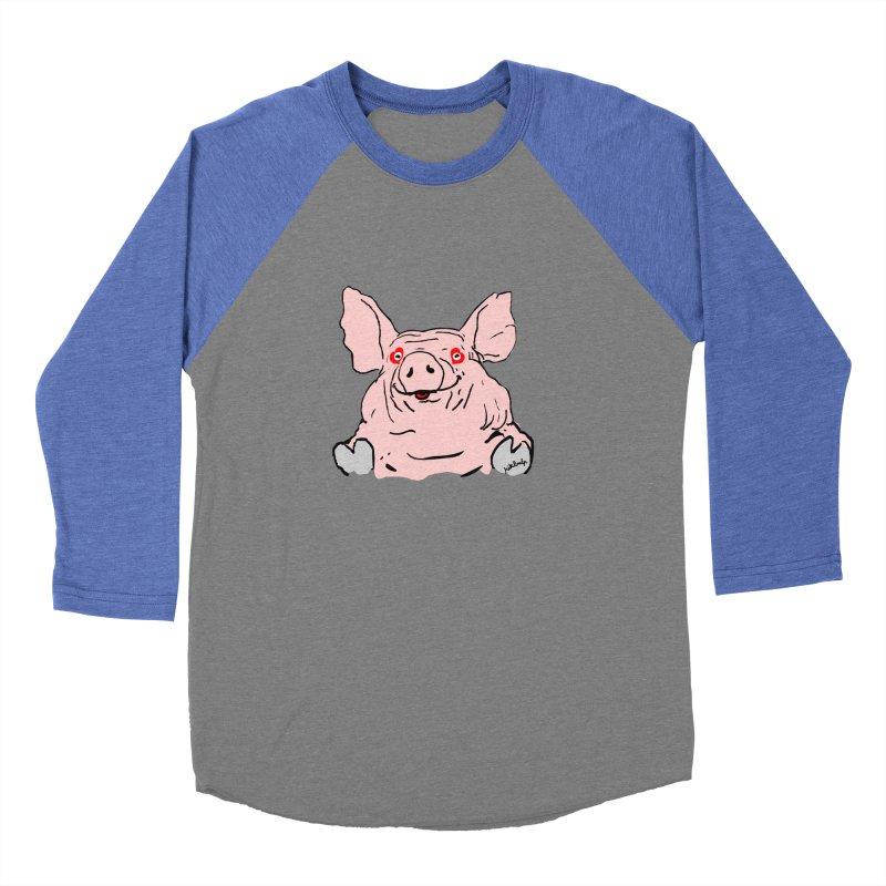 Lovepig Women's Baseball Triblend Longsleeve T-Shirt by mikbulp's Artist Shop