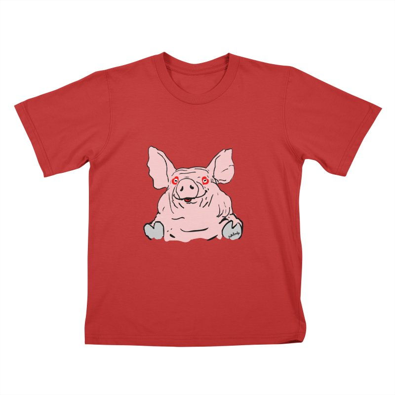 Lovepig Kids T-Shirt by mikbulp's Artist Shop