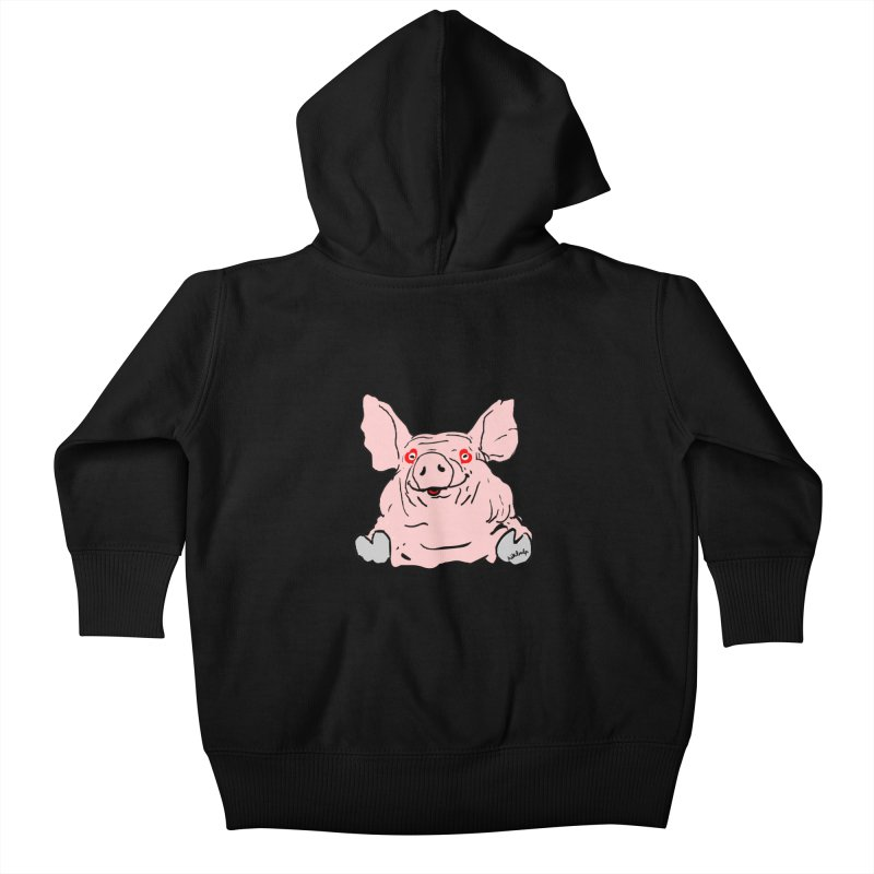 Lovepig Kids Baby Zip-Up Hoody by mikbulp's Artist Shop