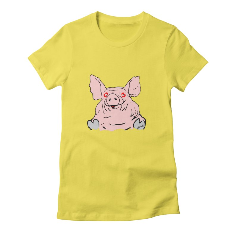 Lovepig Women's Fitted T-Shirt by mikbulp's Artist Shop
