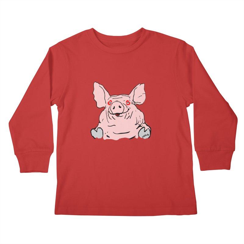 Lovepig Kids Longsleeve T-Shirt by mikbulp's Artist Shop