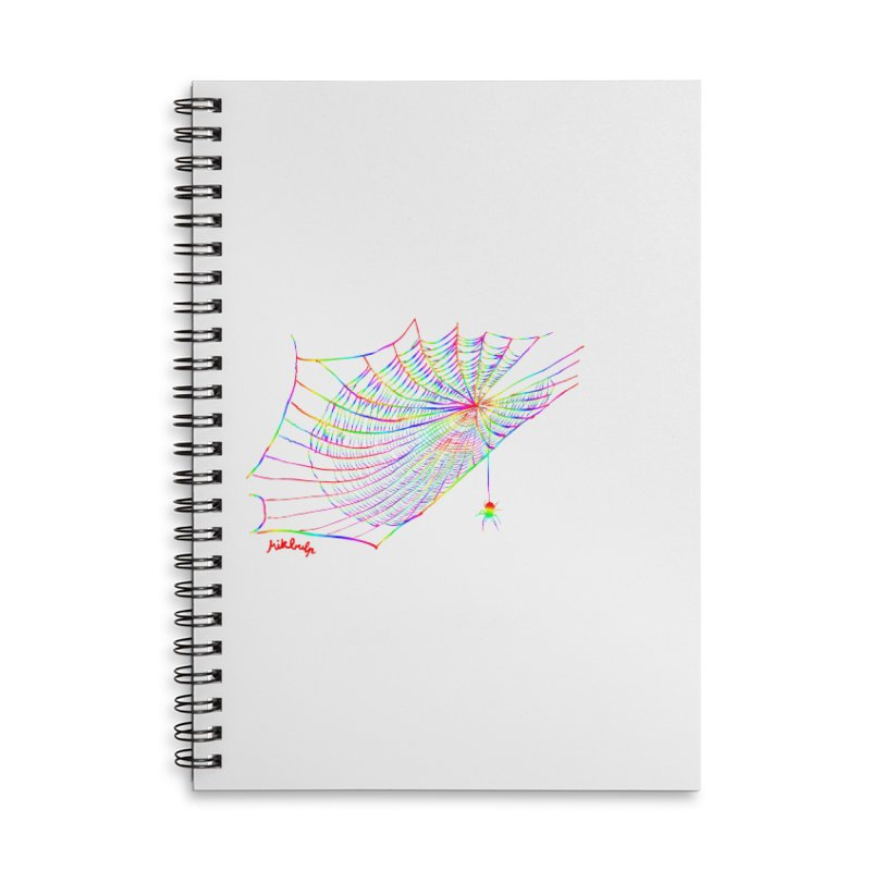 rainbowtrap Accessories Lined Spiral Notebook by mikbulp's Artist Shop