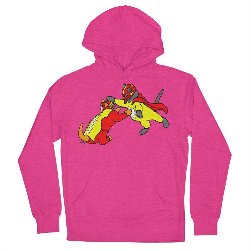 wrestle cats Women's Pullover Hoody by mikbulp's Artist Shop