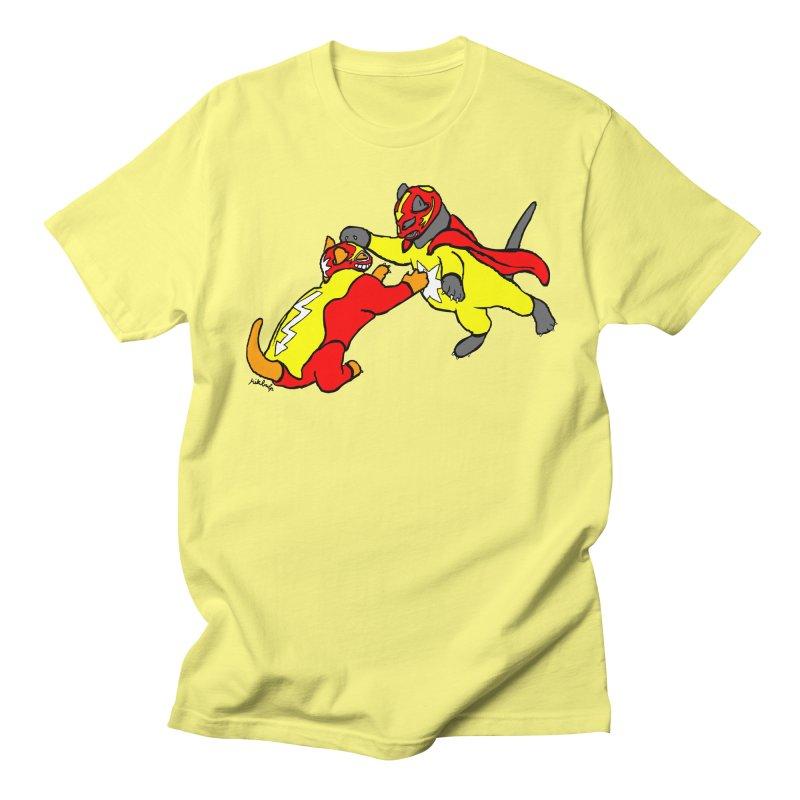 wrestle cats Men's T-Shirt by mikbulp's Artist Shop