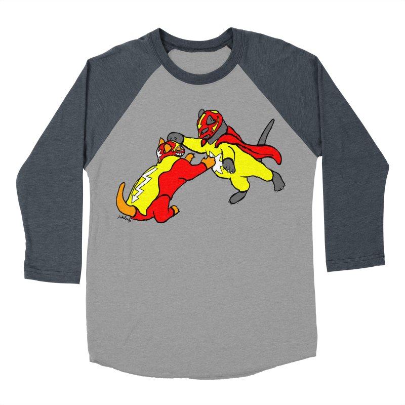 wrestle cats Women's Baseball Triblend T-Shirt by mikbulp's Artist Shop