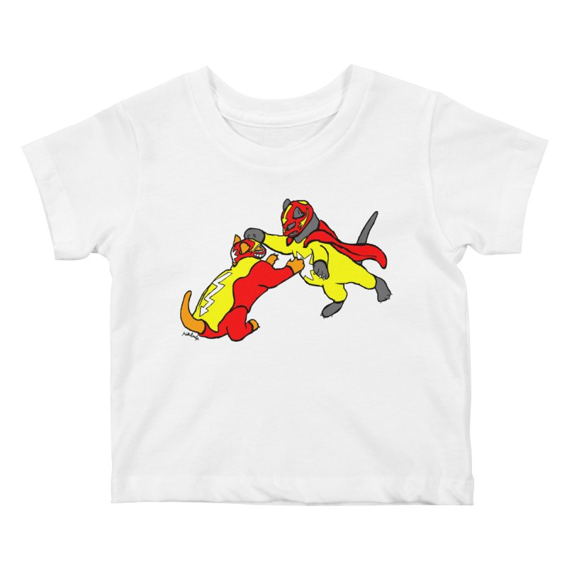 wrestle cats Kids Baby T-Shirt by mikbulp's Artist Shop