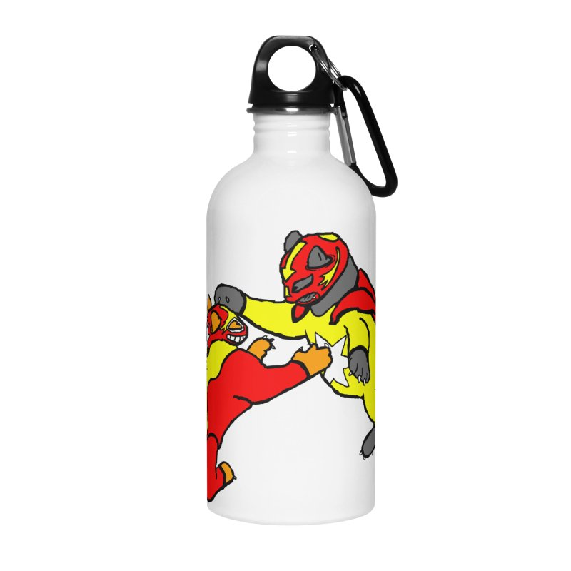 wrestle cats Accessories Water Bottle by mikbulp's Artist Shop