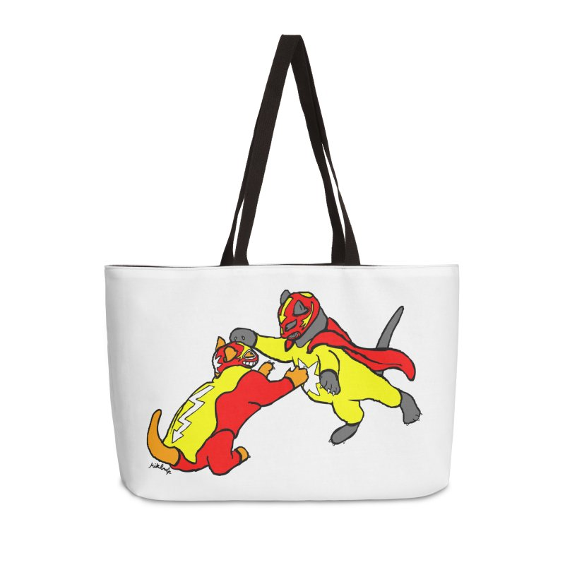 wrestle cats Accessories Weekender Bag Bag by mikbulp's Artist Shop