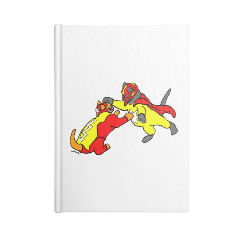 wrestle cats Accessories Blank Journal Notebook by mikbulp's Artist Shop