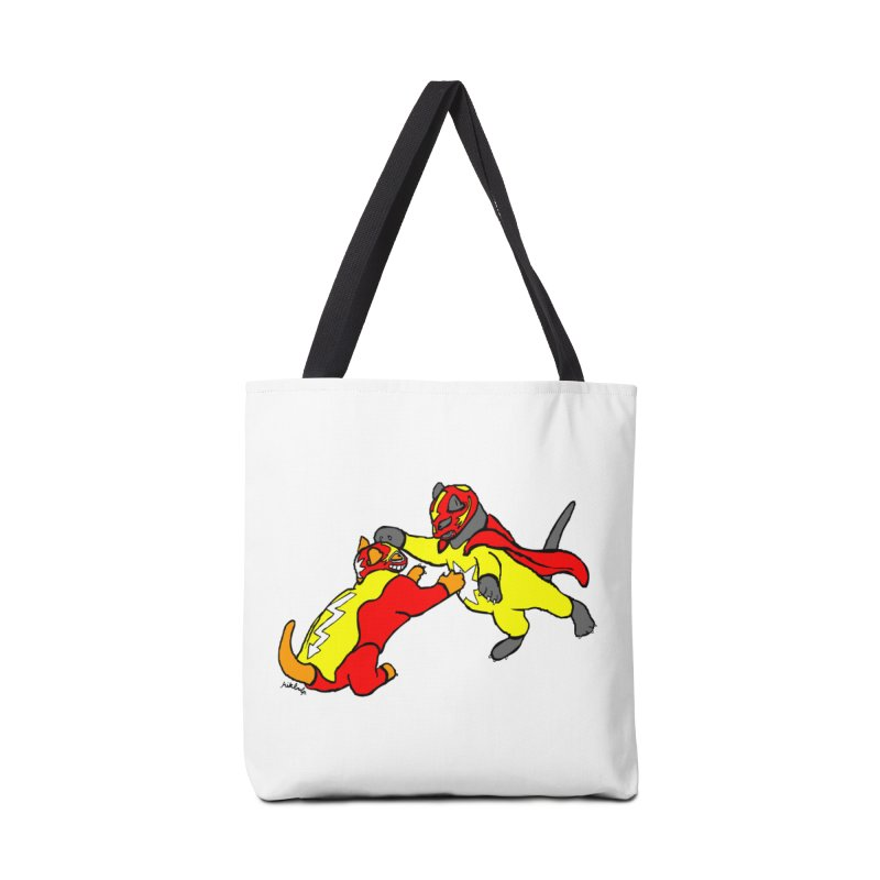 wrestle cats Accessories Tote Bag Bag by mikbulp's Artist Shop