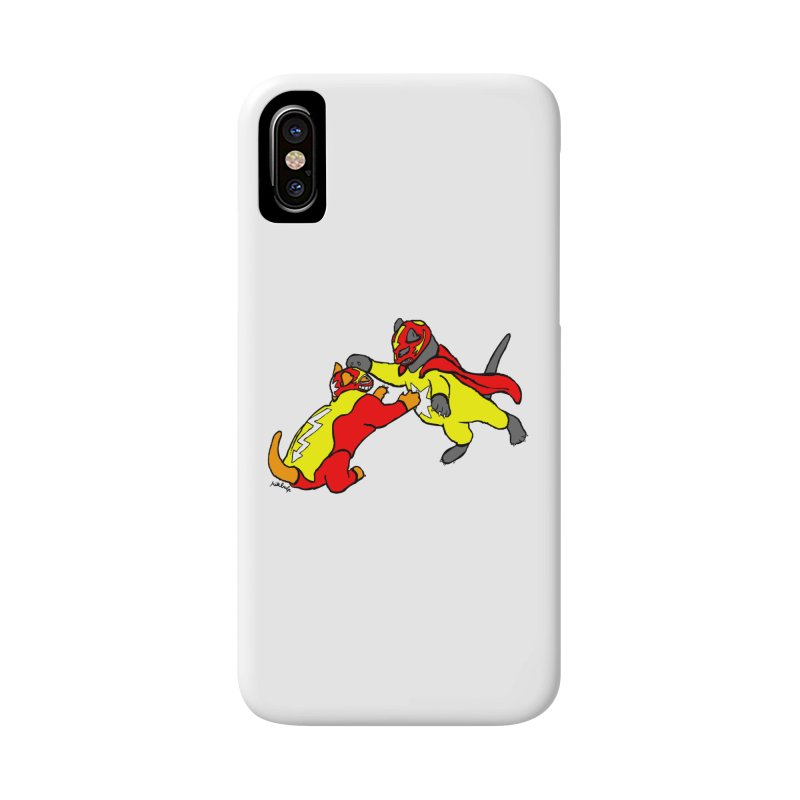 wrestle cats Accessories Phone Case by mikbulp's Artist Shop