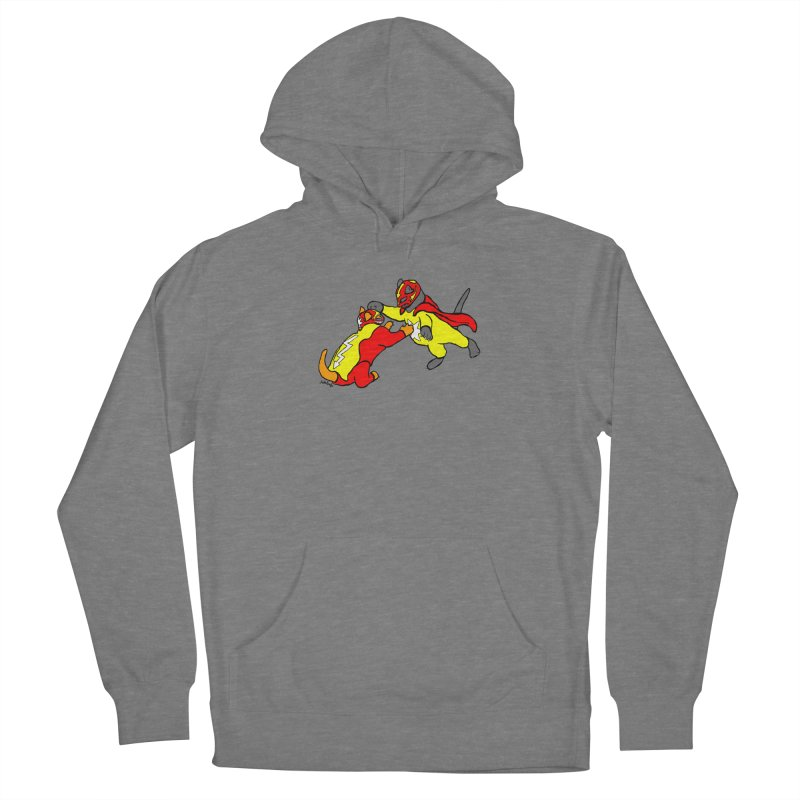 wrestle cats Women's Pullover Hoody by mikbulp's Artist Shop