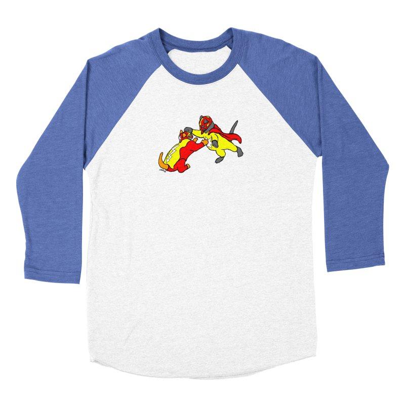 wrestle cats Women's Longsleeve T-Shirt by mikbulp's Artist Shop