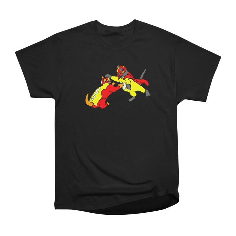 wrestle cats Men's Heavyweight T-Shirt by mikbulp's Artist Shop