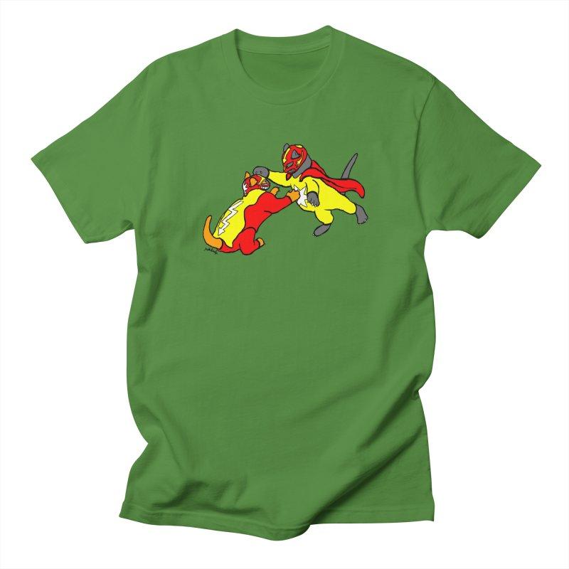 wrestle cats Men's Regular T-Shirt by mikbulp's Artist Shop