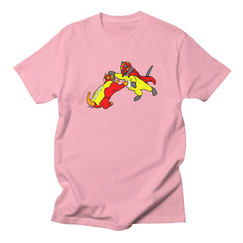 wrestle cats Women's Regular Unisex T-Shirt by mikbulp's Artist Shop