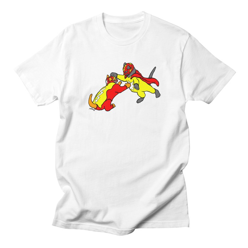wrestle cats Women's Regular Unisex T-Shirt by mikbulp's Artist Shop